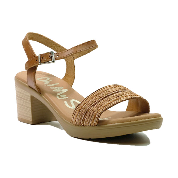 OH! MY SANDALS Heels Basic Strap Sandals OS-4690 Tan