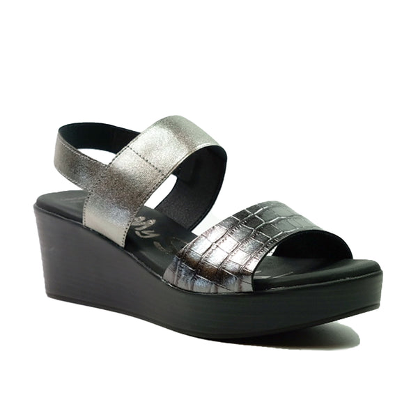 OH! MY SANDALS Wedges Basic Sandals OS-4684 Black