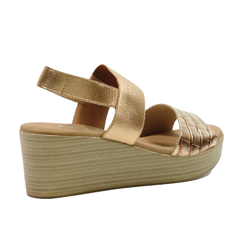 OH! MY SANDALS Wedges Basic Sandals OS-4684 Bronze