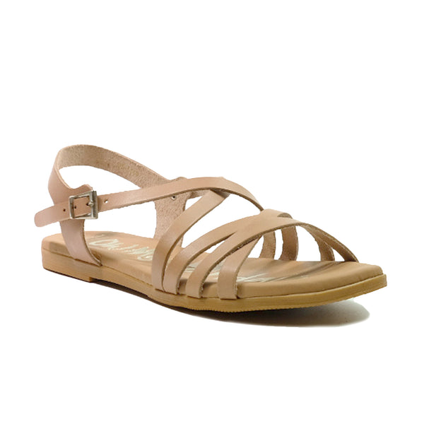 OH! MY SANDALS Flat Strap Sandals OS-4640 Beige