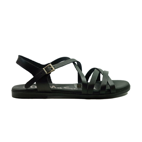 OH! MY SANDALS Flat Strap Sandals OS-4640 Black