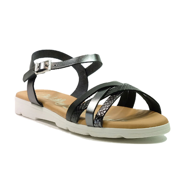 OH! MY SANDALS Strap Sandals OS-4650 Black