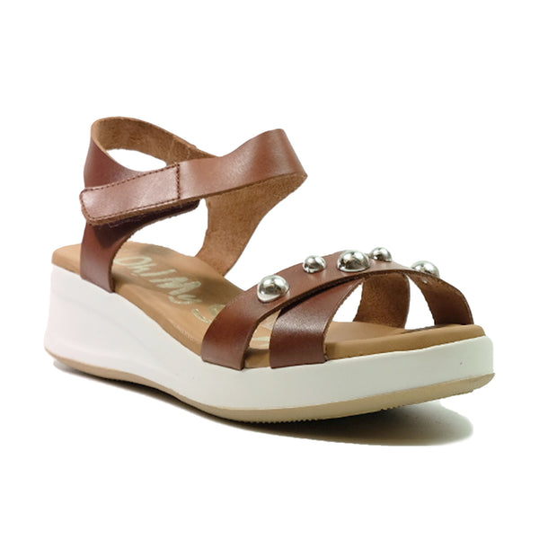 OH! MY SANDALS Sport Sling Back Sandals OS-4677 Brown