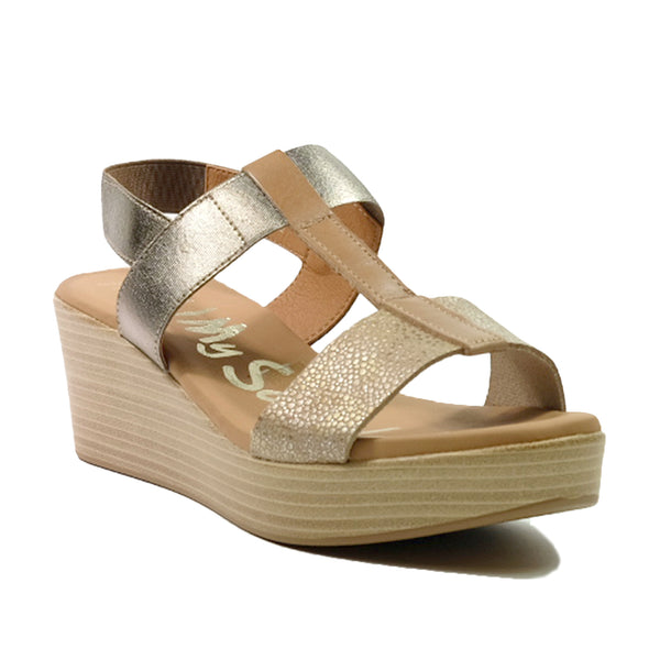 OH! MY SANDALS Wedges Sling Back Sandals OS-4685 Pink