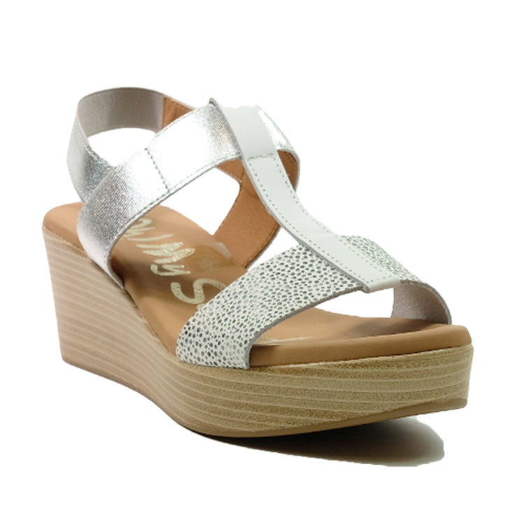 OH! MY SANDALS Wedges Sling Back Sandals OS-4685 White