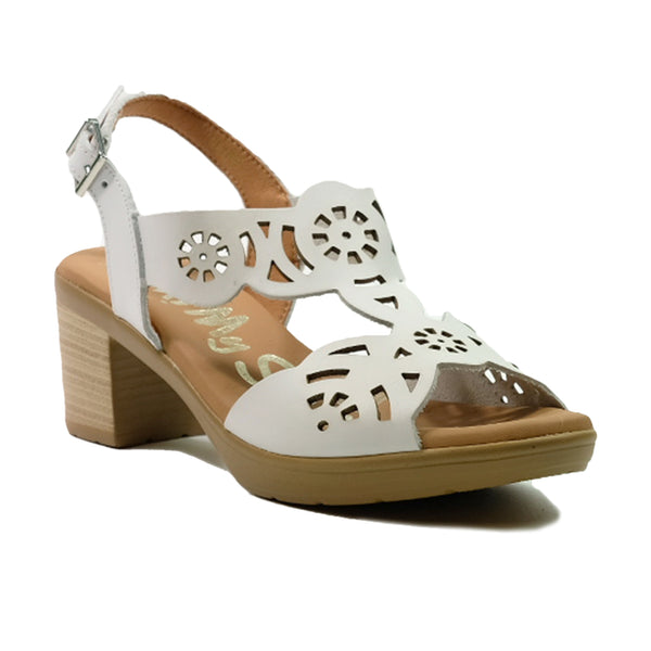 OH! MY SANDALS Heels Slingback Sandals OS-4689 White