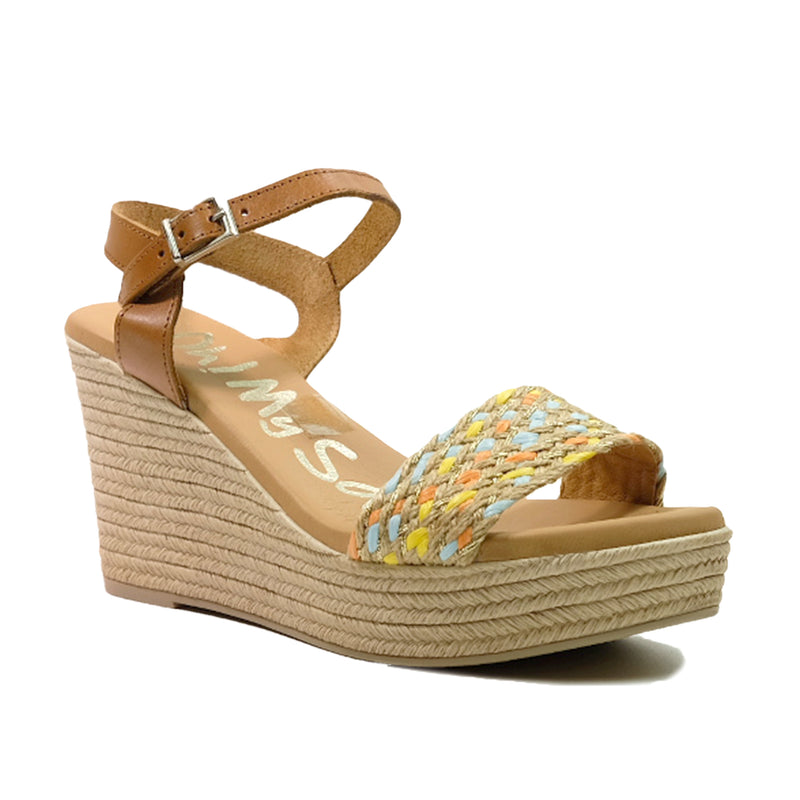 OH! MY SANDALS Strap Wedges Sandals OS-4715 Tan