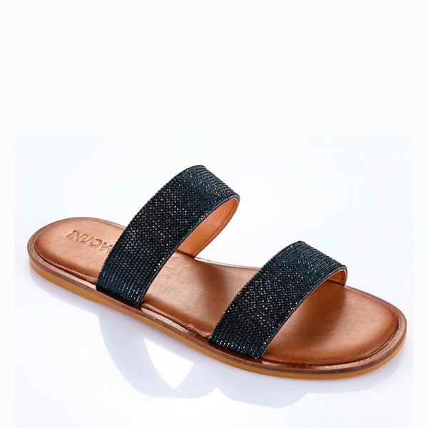 INUOVO Flats Sandals two strap Q-103030 Navy