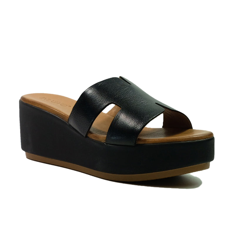 INUOVO Wedges Sandals Q-123039 Black