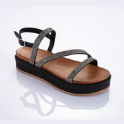 INUOVO Summer Bling Sandals Black