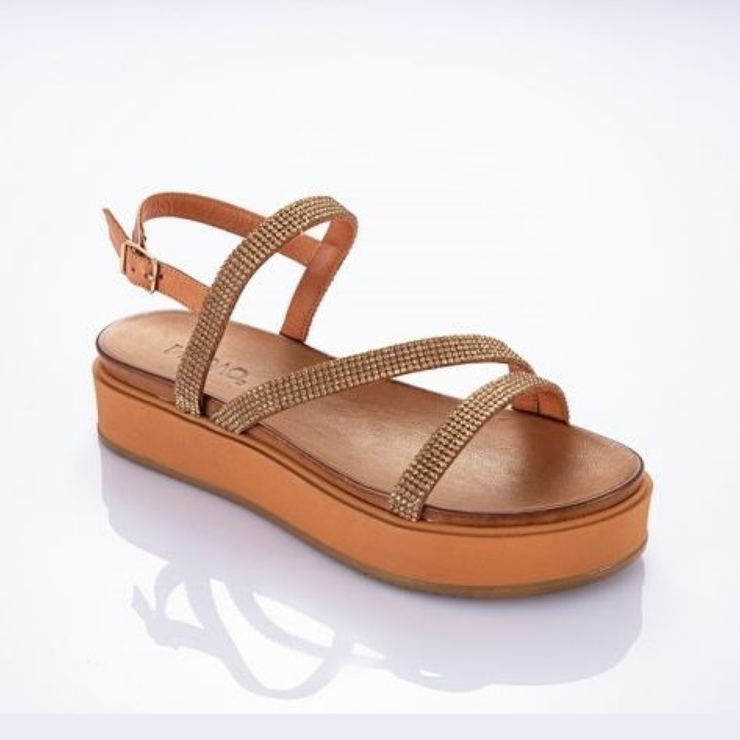INUOVO Summer Bling Sandals Tan