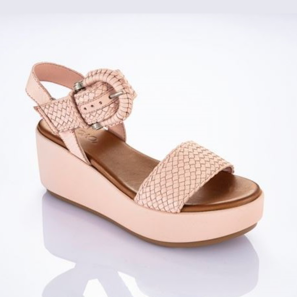 Wedges Sling Back Pink