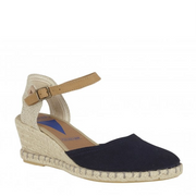 VERBENAS Cover Suede Wedges Navy
