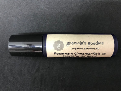 Handmade Organic Essential Oil Roll-On: Rosemary Cinnamon