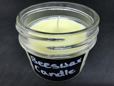 Handmade Organic Unscented Air Purifying Candles: Beeswax