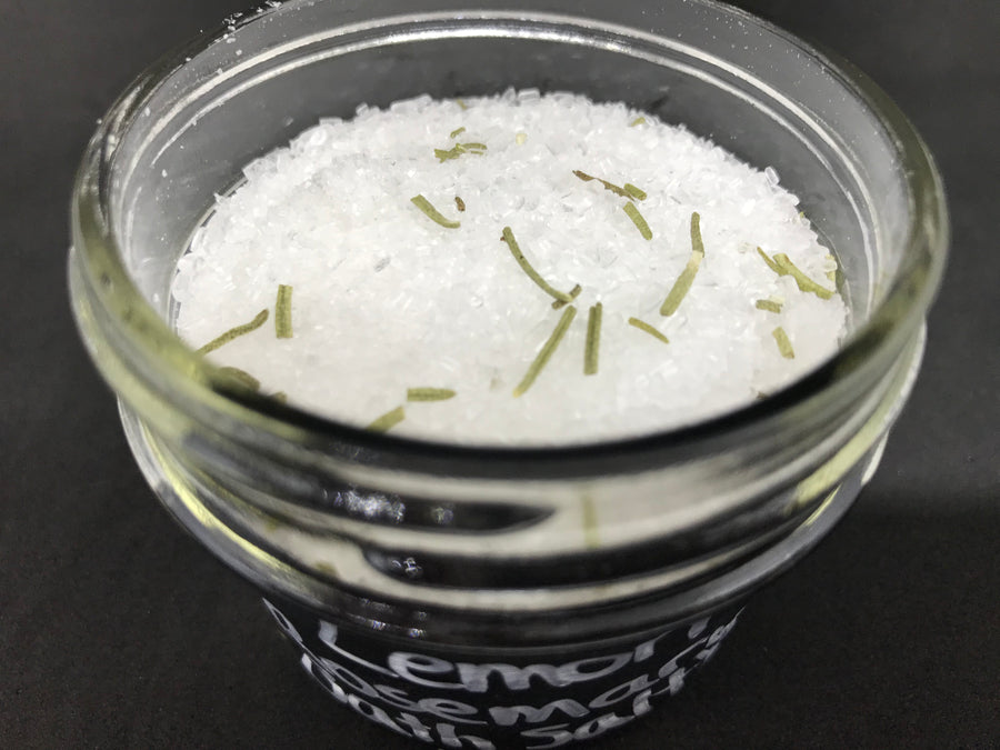 Handmade Organic Bath Salts: Lemon Rosemary