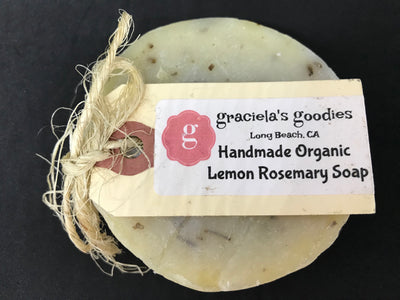 Handmade Organic Soap: Lemon Rosemary