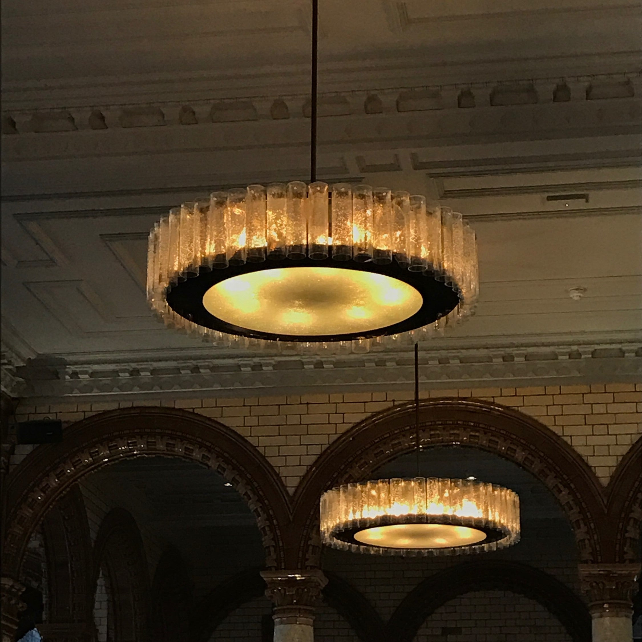 Glass cylinders supplied by Glasform for these stinning chandeliers.