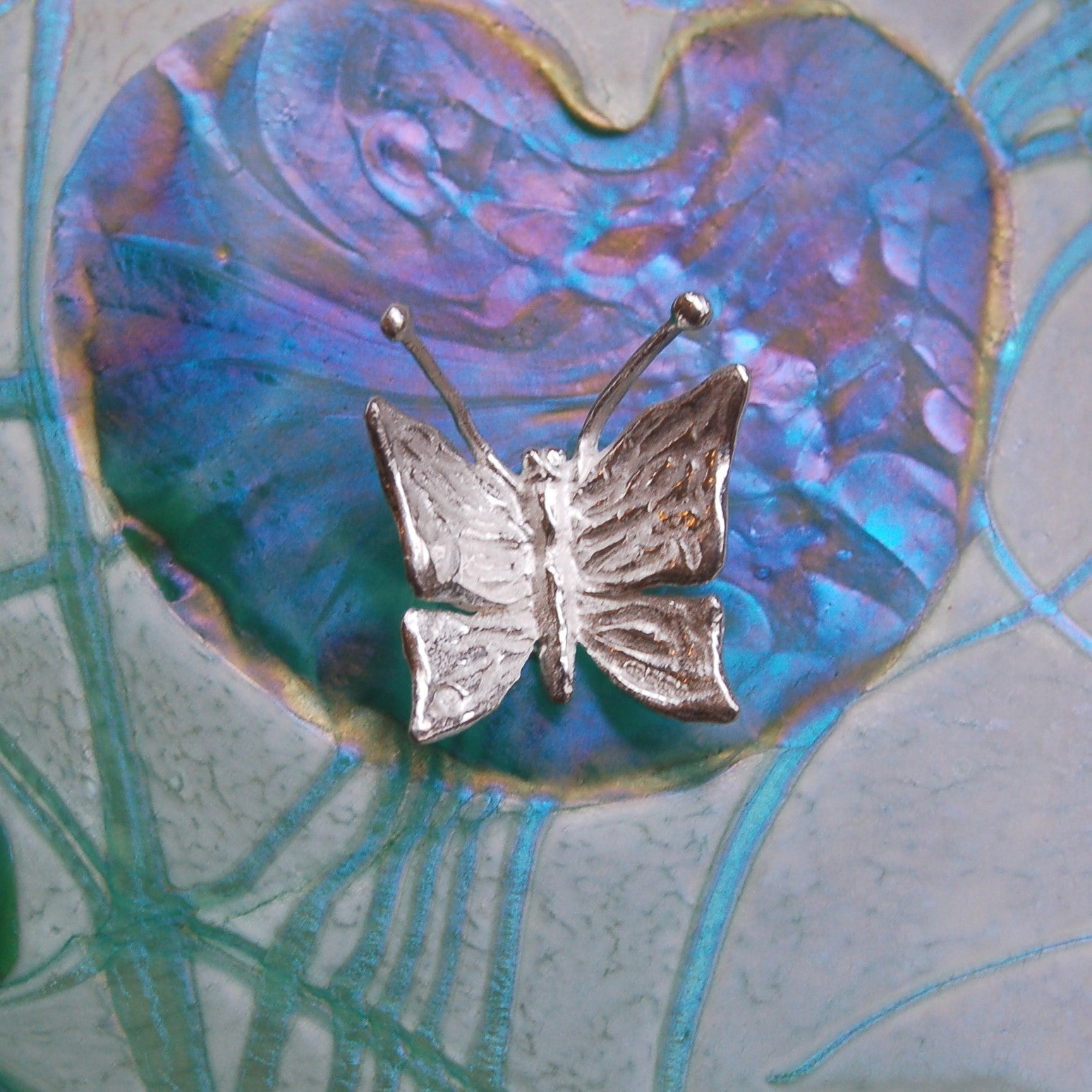 Glasform Hallmarked Sterling Silver Butterfly