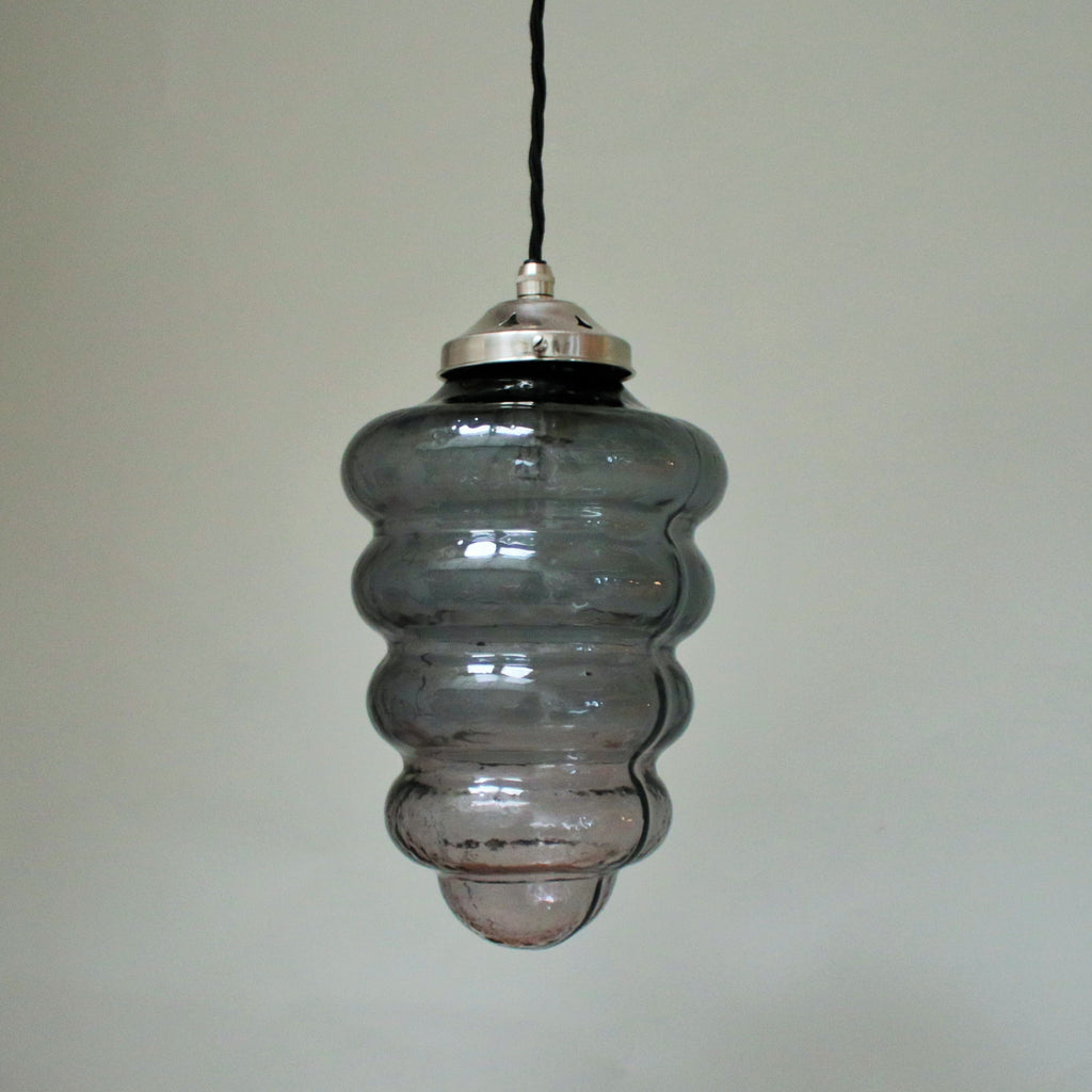 handmade glass pendant lampshade in grey
