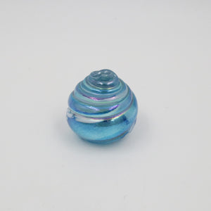 SHELL PAPERWEIGHT IN AQUAMARINE