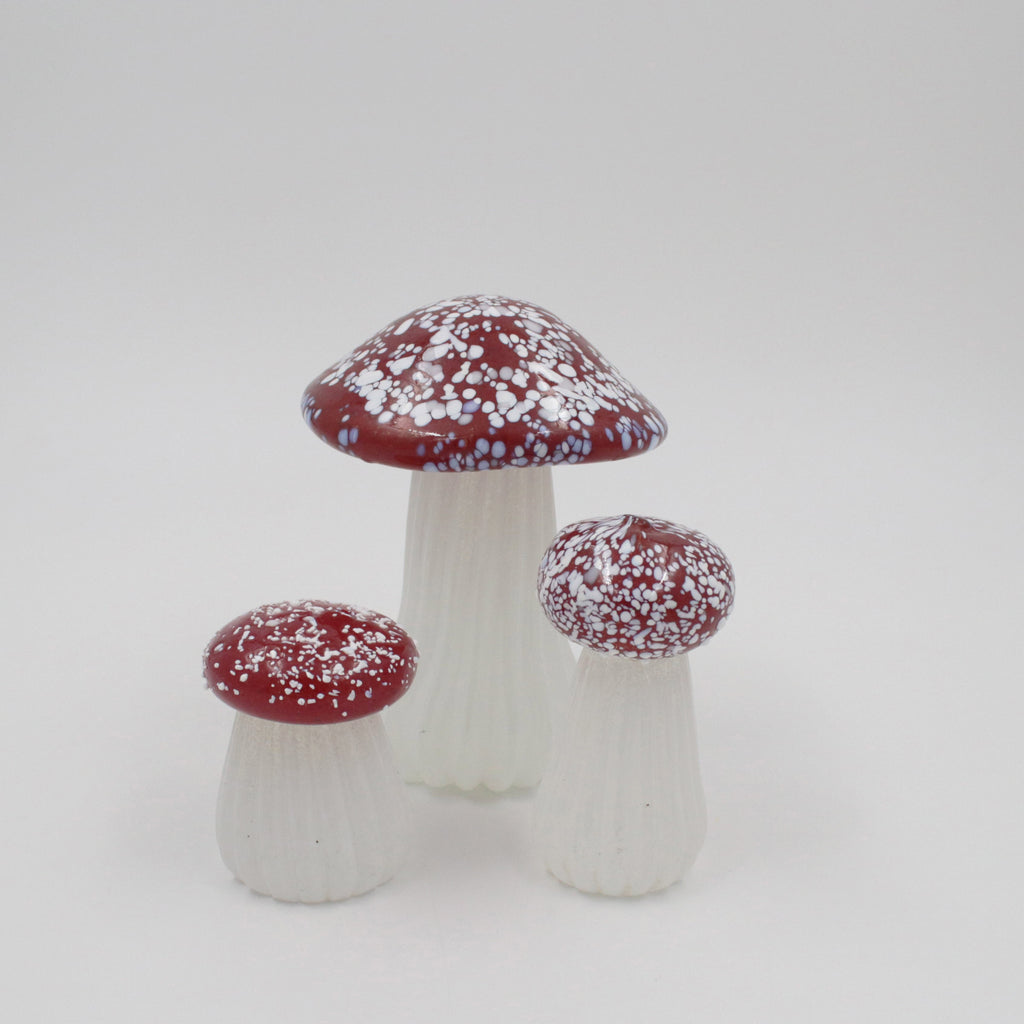 Red Capped Glass Toadstools