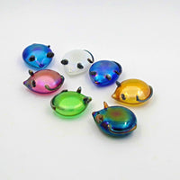 handmade glass mice in different colours