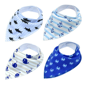 Dog Bandana 4pcs Cotton