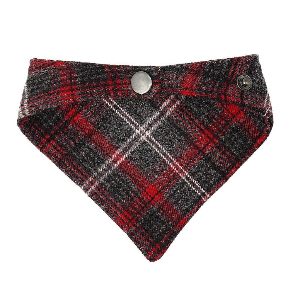 Plaid Cat Dog Bandana