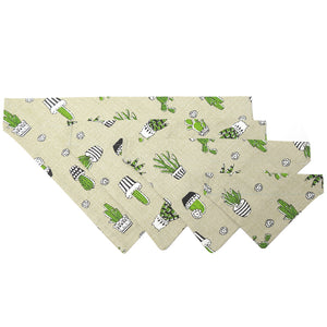 Cereus Print S-XL Adjustable Dog Bandana