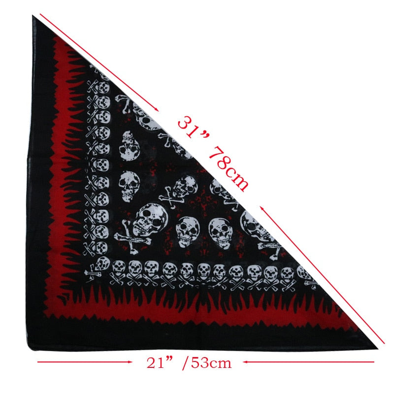 Skull Style Pet Supplies Halloween Middle-Large Dog Bandanas