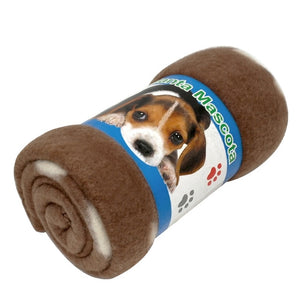 Soft Fleece Puppy Dog Sleep Blanke