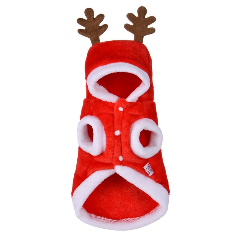 2018 Christmas Dog Clothes Winte Coat Clothing  Santa Costume Pet Dog