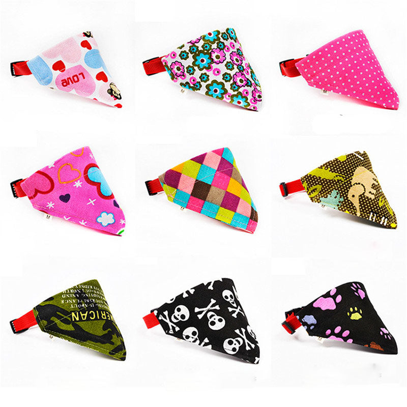 18 Styles Adjustable Dog Collar Puppy Cat Scarf Collar for Dogs Bandana Neckerchief Pet Accessories