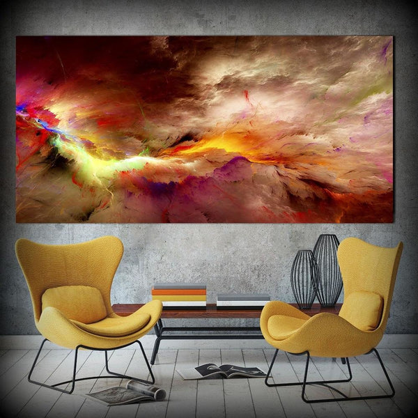 Colorful Tempest - 28x56 / Canvas Print - canvas wall art prints