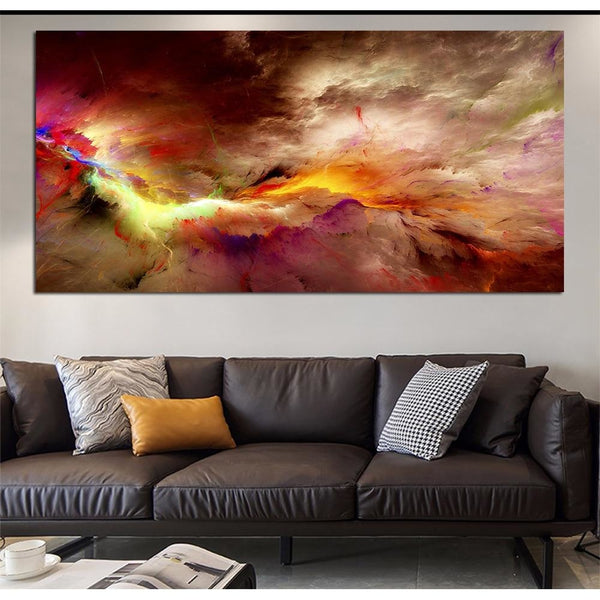 Colorful Tempest - canvas wall art prints