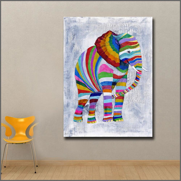 Elephant Expression - 28x38 / Canvas Print - canvas wall art prints