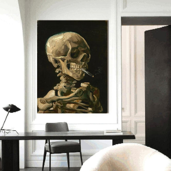 Head Of A Skeleton by Van Gogh - canvas wall art prints