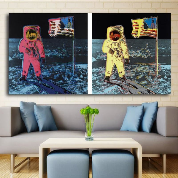 Houston Were On The Moon - 28x56 / Canvas Print - canvas wall art prints