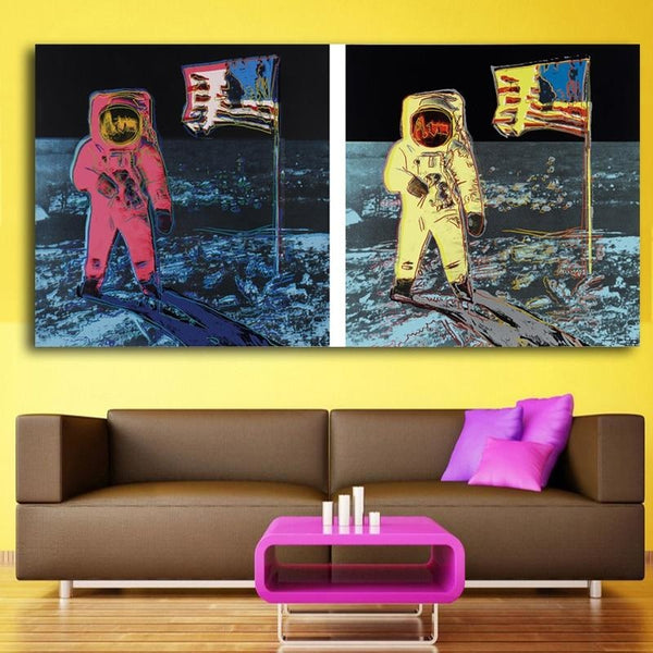 Houston Were On The Moon - canvas wall art prints
