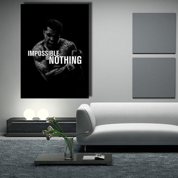 Impossible Is Nothing - canvas wall art prints