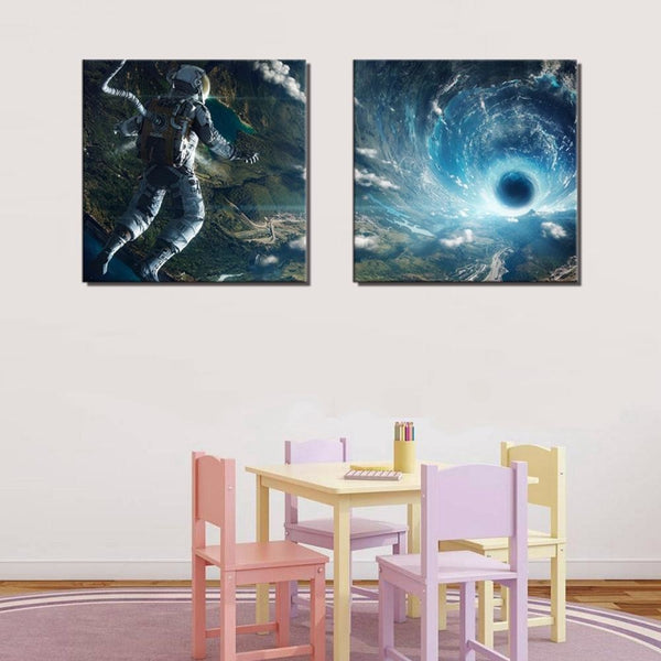 Into the Abyss of Space - canvas wall art prints