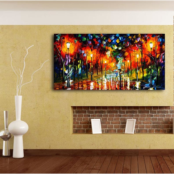 Lovers Night Walk Canvas Art Paintings at Trendy Canvas Art