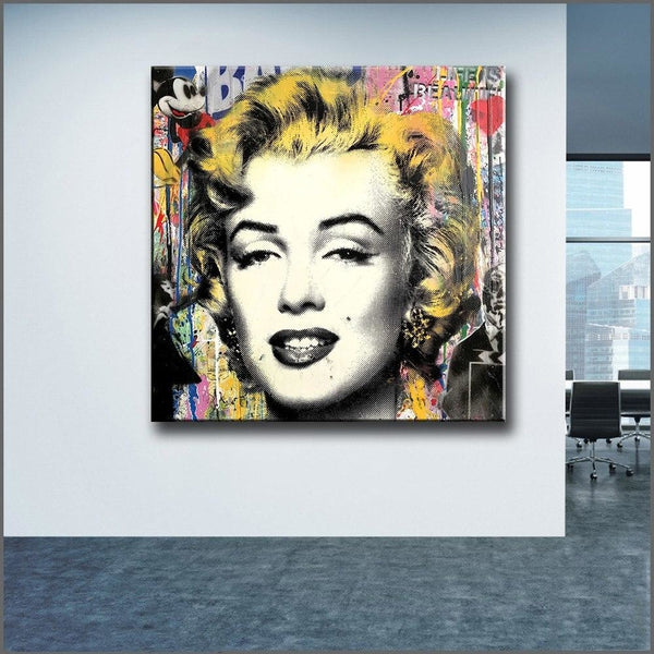 Mickey And Marilyn - 28x28 - canvas wall art prints
