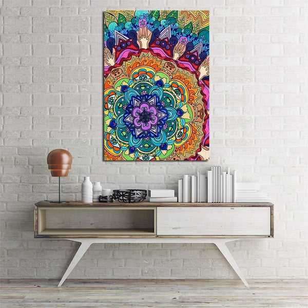 Microcosm Mandala Rachel Rosenkoetter - canvas wall art prints