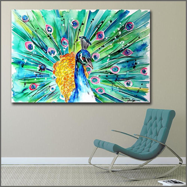 Peacock Pleasure - canvas wall art prints
