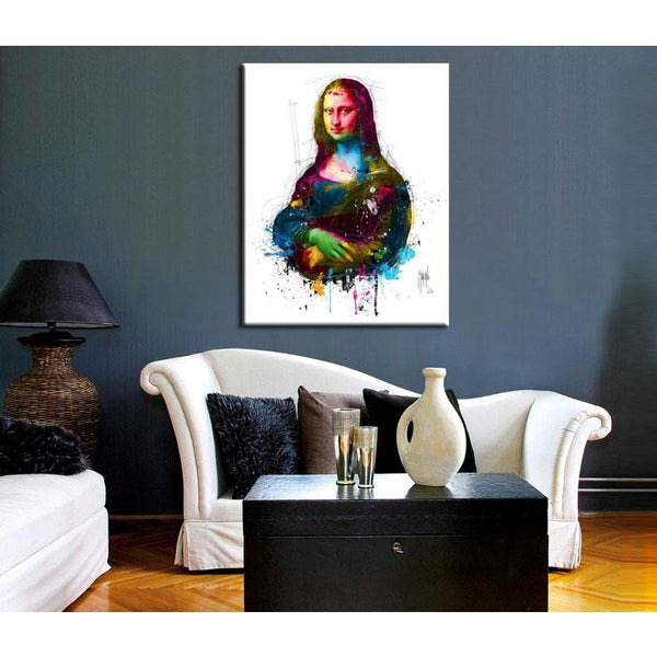 Spilling Mona Lisa - canvas wall art prints