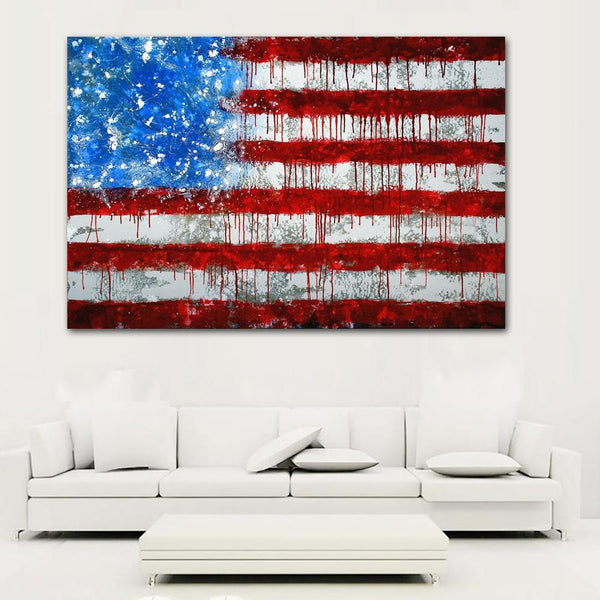 The Dripping Flag - canvas wall art prints