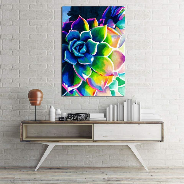The Rose Rainbow - 30x40 / Pre-Framed - canvas wall art prints