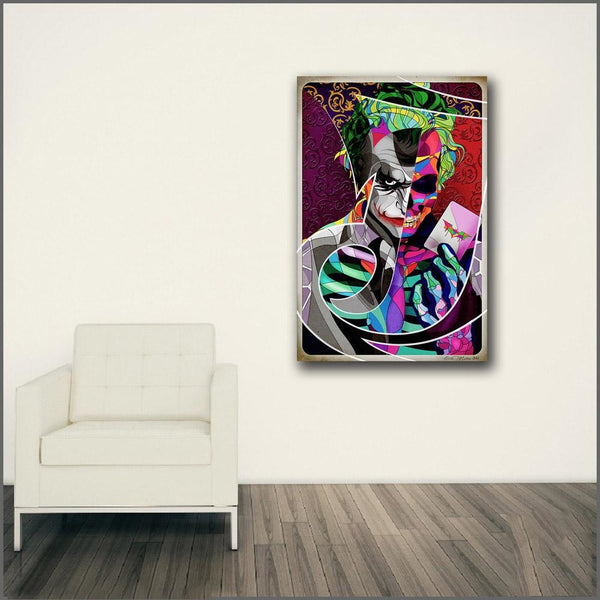 Two Faced Joker Canvas Art Paintings at Trendy Canvas Art